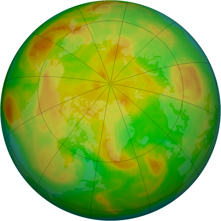 Arctic ozone map for 14 May 2000