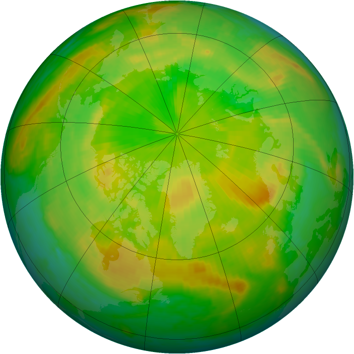 Arctic ozone map for 03 June 2000