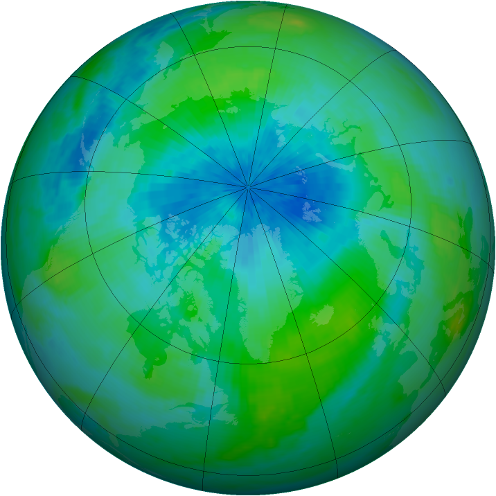 Arctic ozone map for 08 September 2000