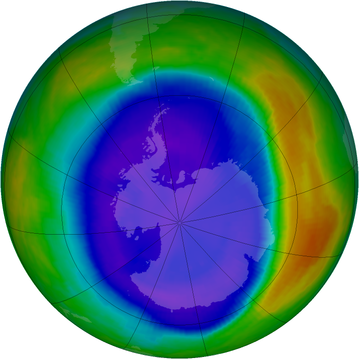 Antarctic ozone map for 08 September 2000