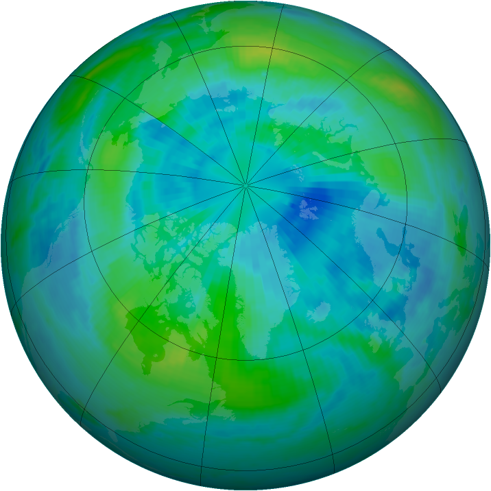 Arctic ozone map for 26 September 2000