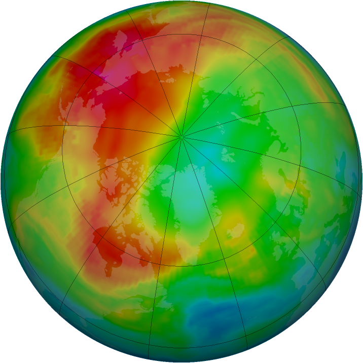 Arctic ozone map for 27 January 2001