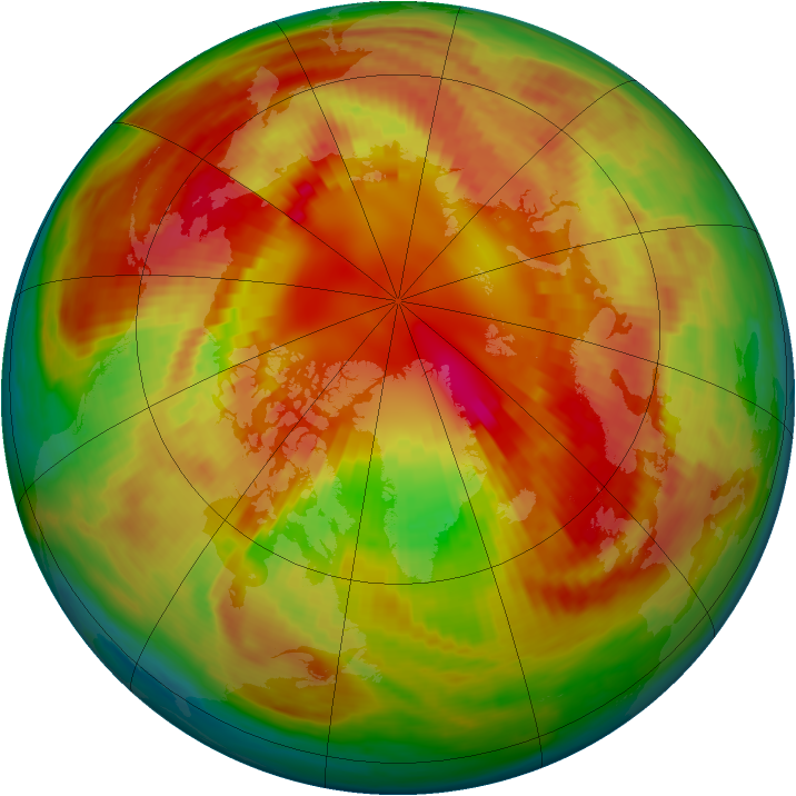 Arctic ozone map for 01 March 2001