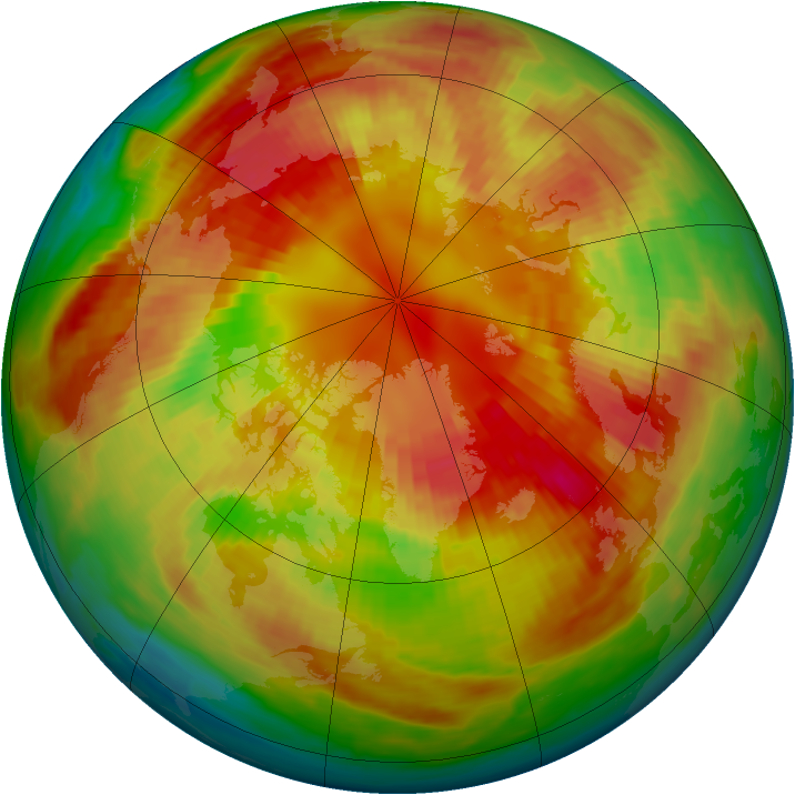 Arctic ozone map for 03 March 2001