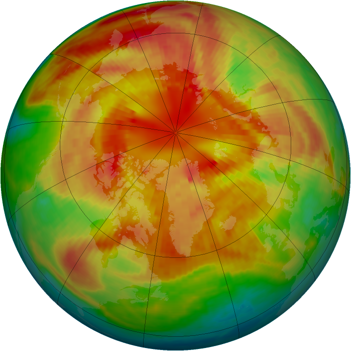 Arctic ozone map for 08 March 2001