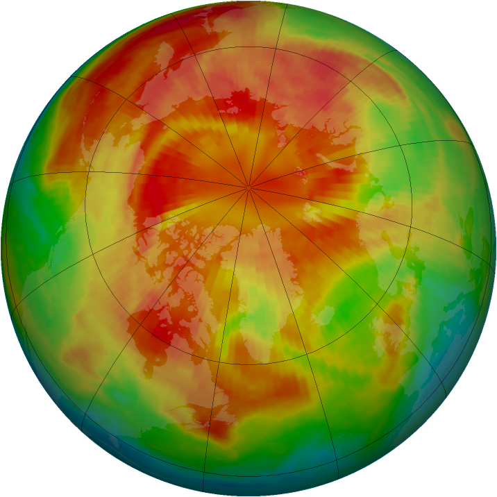 Arctic ozone map for 12 March 2001