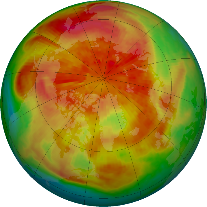 Arctic ozone map for 18 March 2001