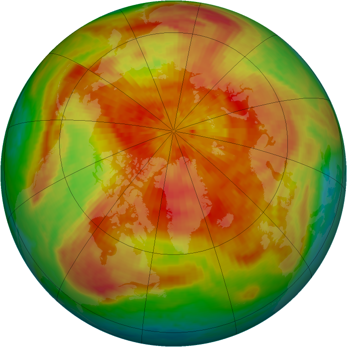 Arctic ozone map for 26 March 2001