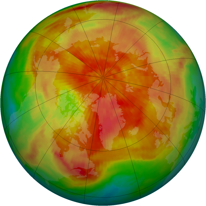 Arctic ozone map for 28 March 2001