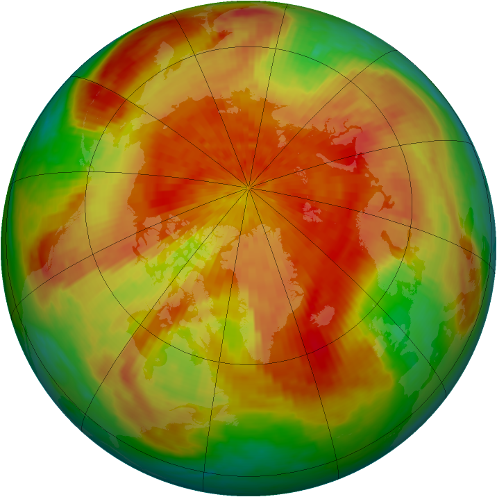 Arctic ozone map for 02 April 2001