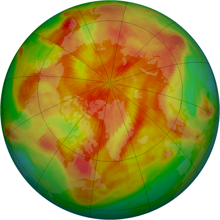 Arctic ozone map for 05 April 2001