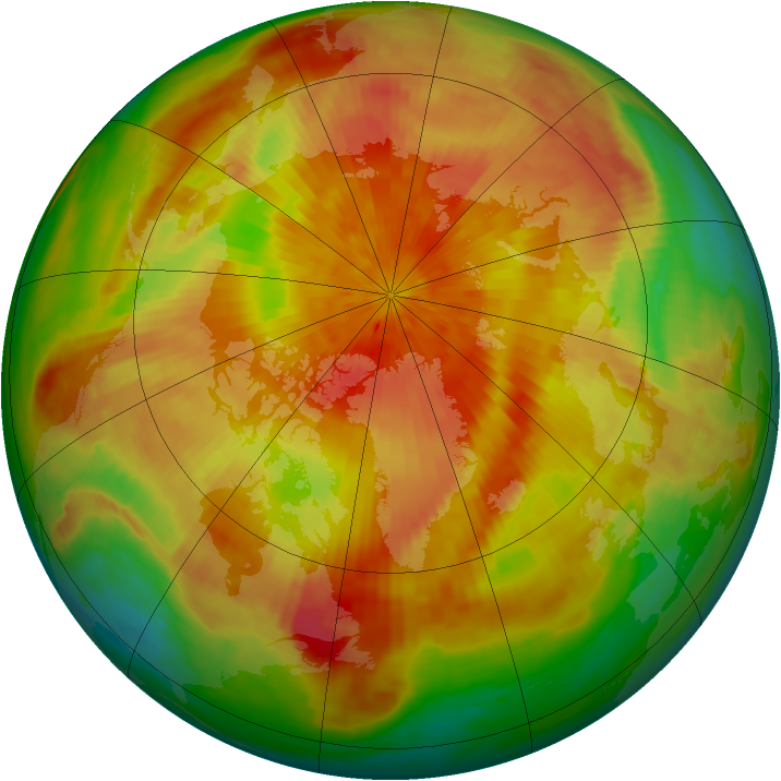 Arctic ozone map for 06 April 2001