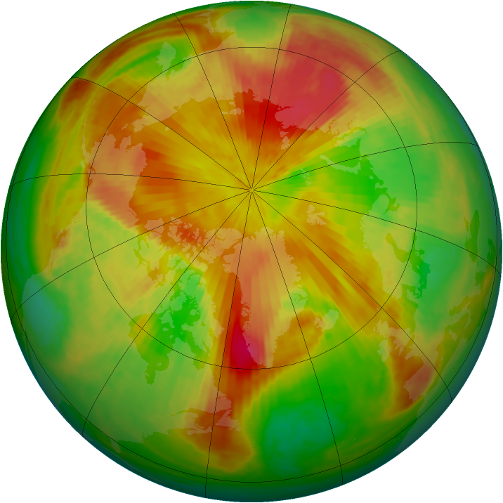 Arctic ozone map for 30 April 2001