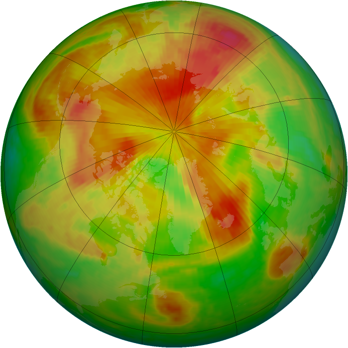 Arctic ozone map for 02 May 2001