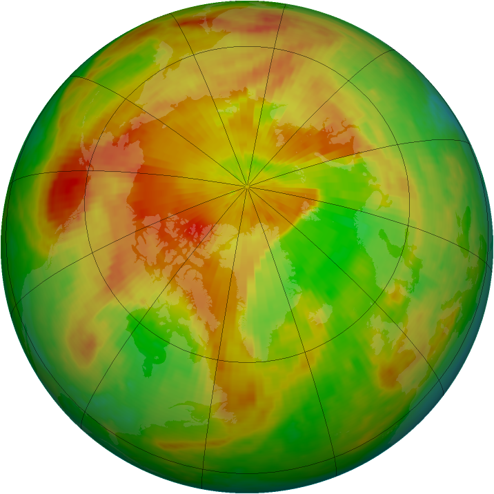 Arctic ozone map for 07 May 2001