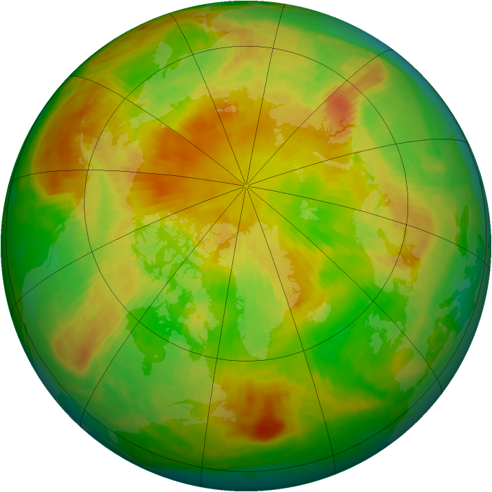 Arctic ozone map for 21 May 2001