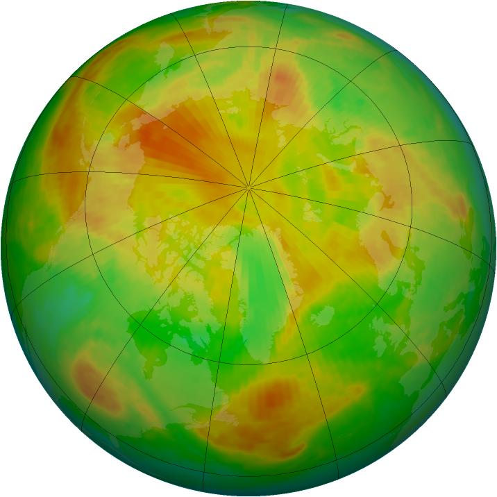 Arctic ozone map for 24 May 2001