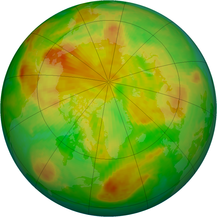 Arctic ozone map for 25 May 2001