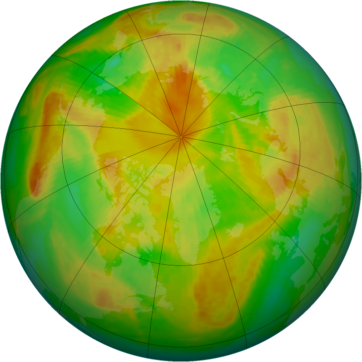 Arctic ozone map for 28 May 2001