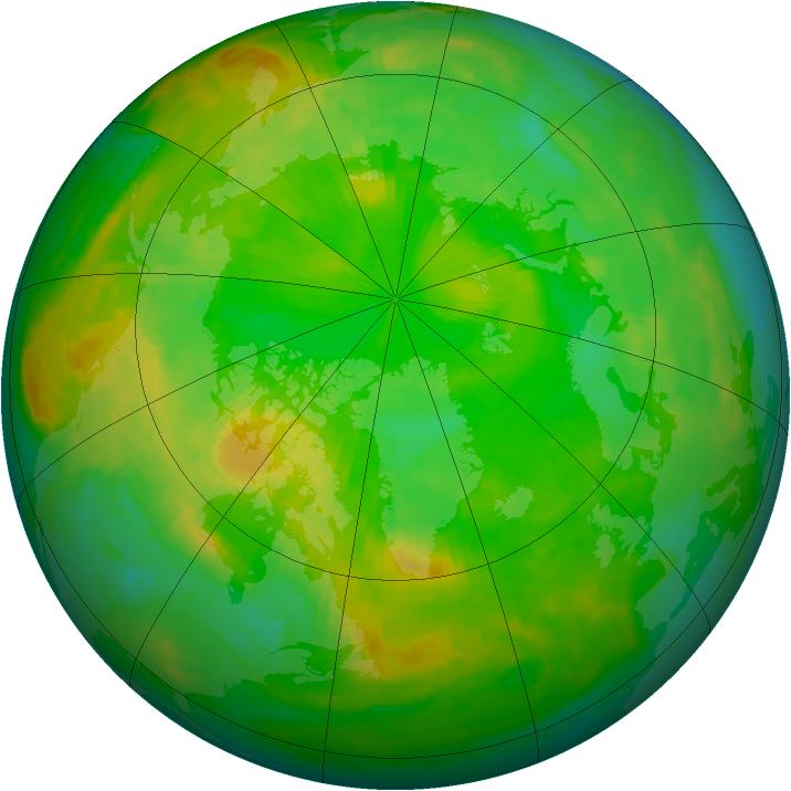 Arctic ozone map for 26 June 2001