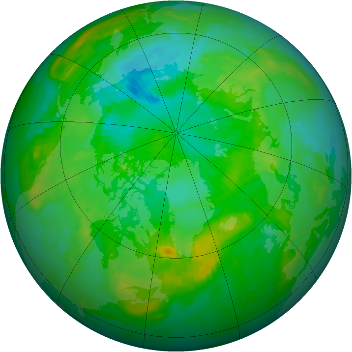Arctic ozone map for 28 July 2001