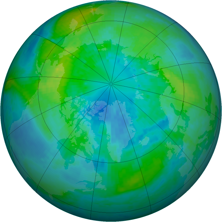 Arctic ozone map for 30 September 2001