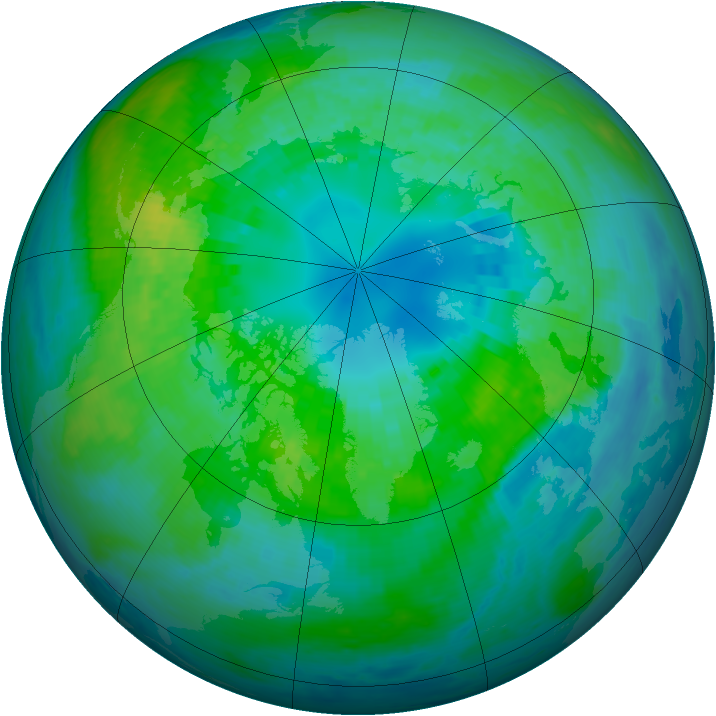 Arctic ozone map for 11 October 2001