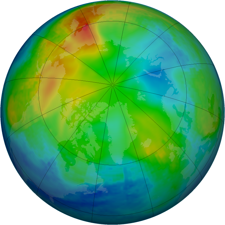 Arctic ozone map for 02 December 2001
