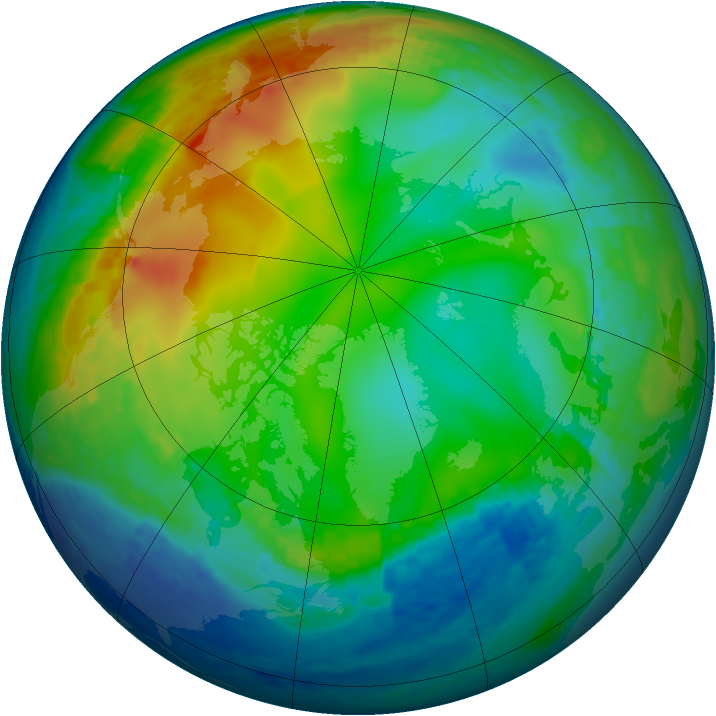 Arctic ozone map for 04 December 2001