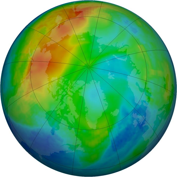 Arctic ozone map for 05 December 2001