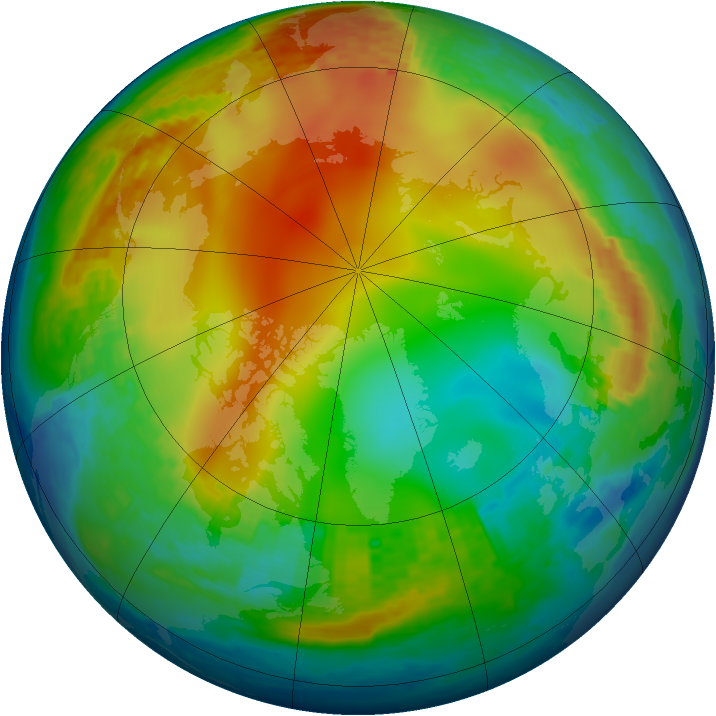 Arctic ozone map for 02 January 2002