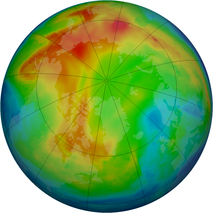 Arctic ozone map for 10 January 2002
