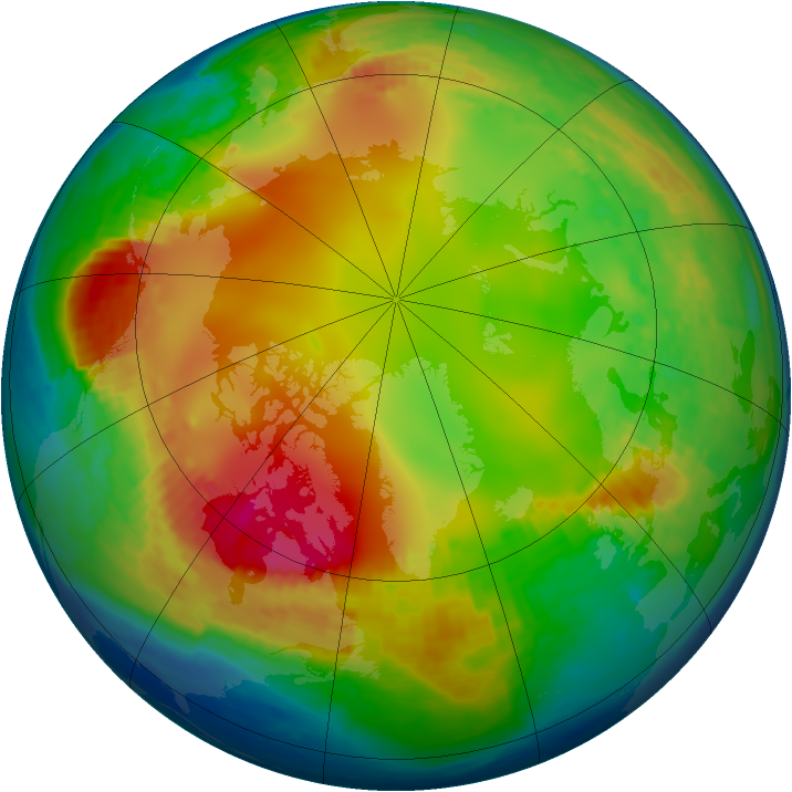 Arctic ozone map for 24 January 2002