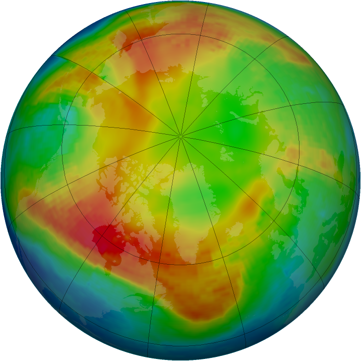 Arctic ozone map for 28 January 2002