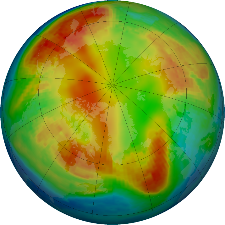 Arctic ozone map for 02 February 2002