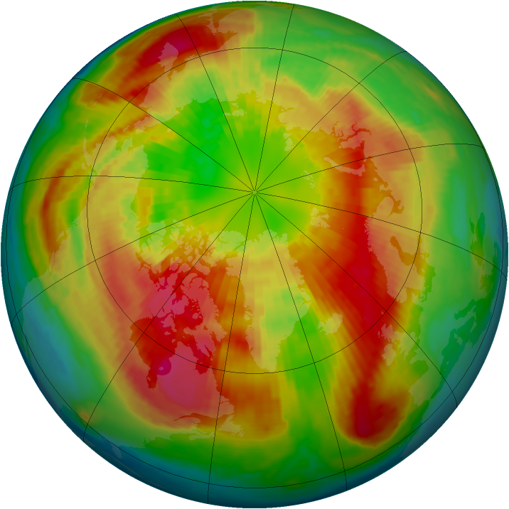Arctic ozone map for 12 March 2002
