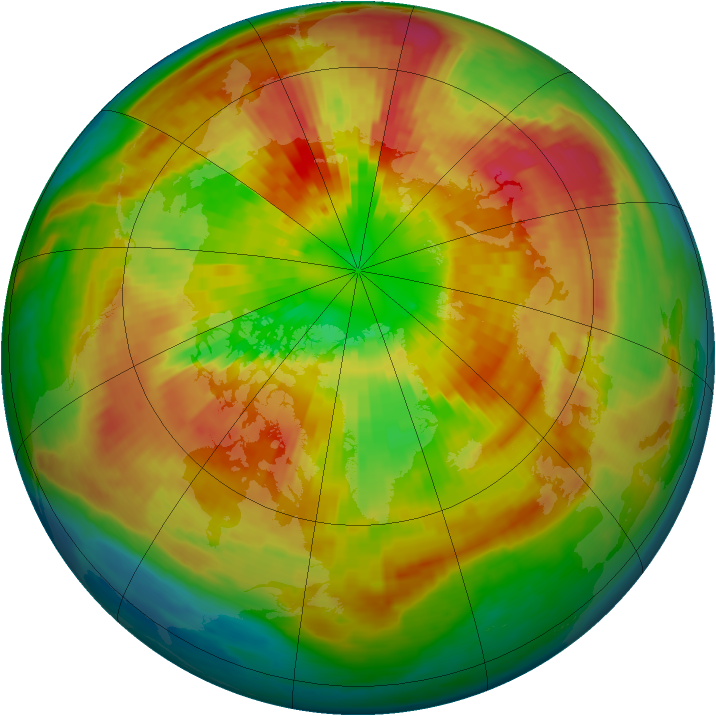 Arctic ozone map for 18 March 2002