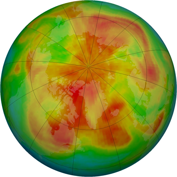Arctic ozone map for 04 April 2002