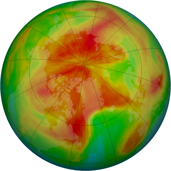 Arctic ozone map for 08 April 2002