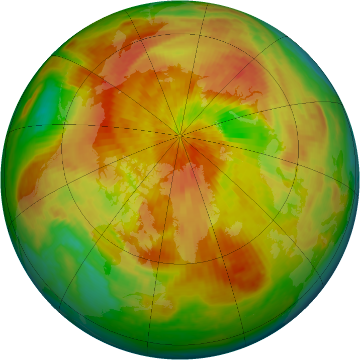 Arctic ozone map for 16 April 2002