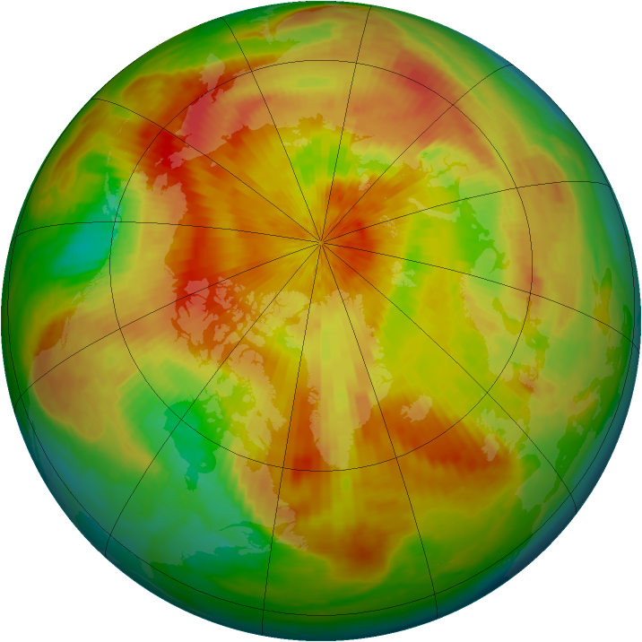 Arctic ozone map for 17 April 2002