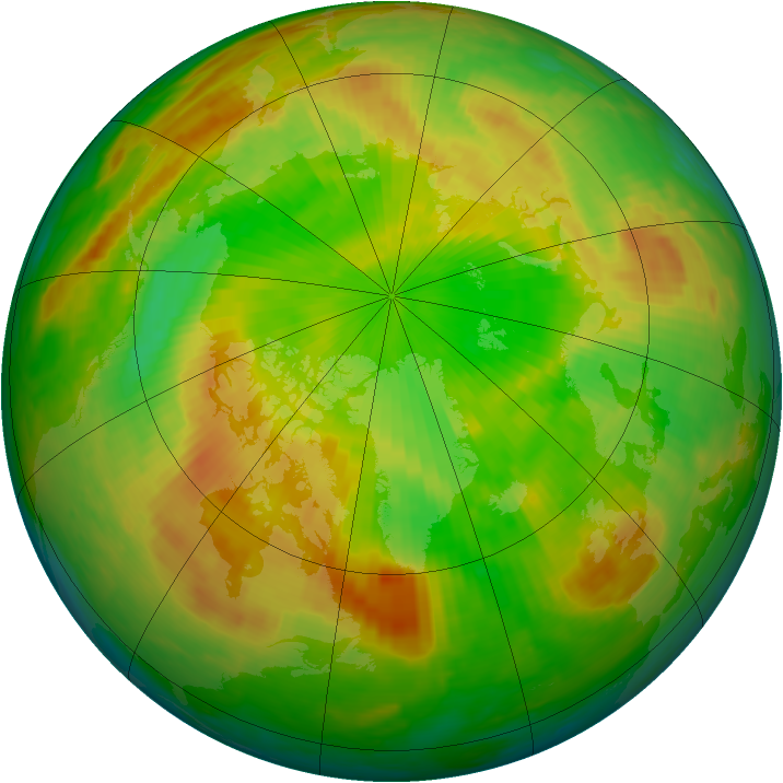 Arctic ozone map for 26 May 2002