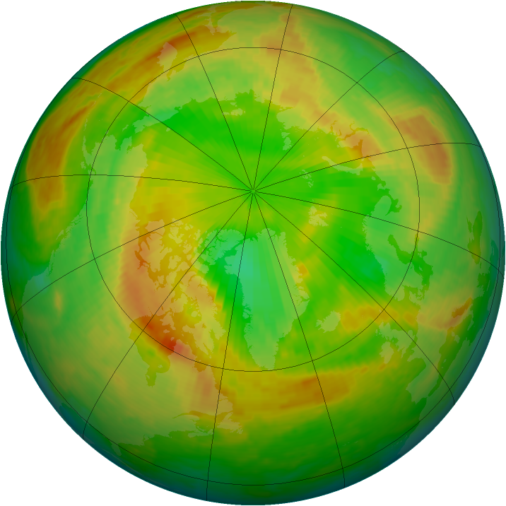 Arctic ozone map for 28 May 2002