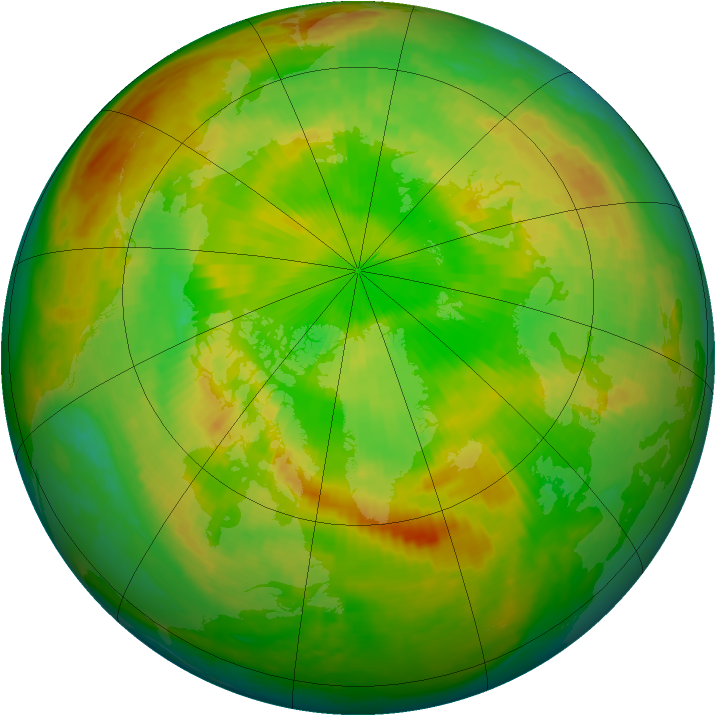 Arctic ozone map for 01 June 2002