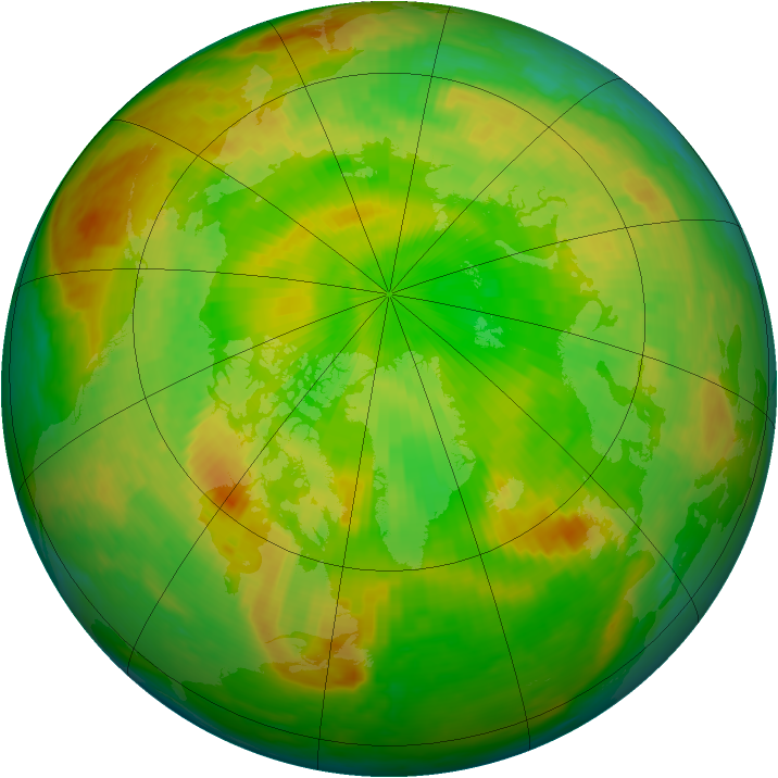 Arctic ozone map for 03 June 2002