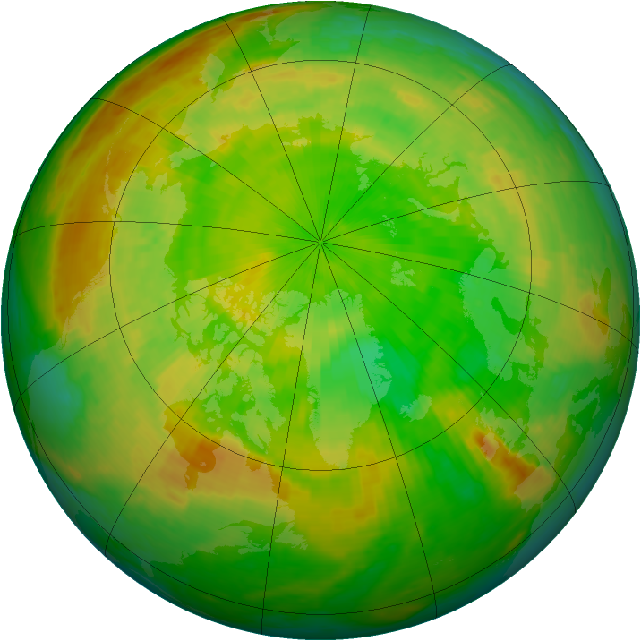 Arctic ozone map for 05 June 2002