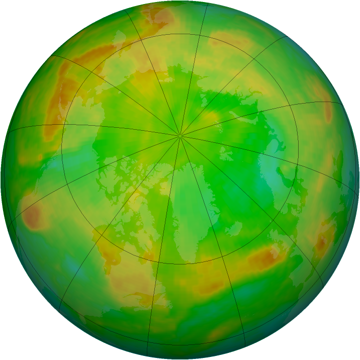 Arctic ozone map for 09 June 2002