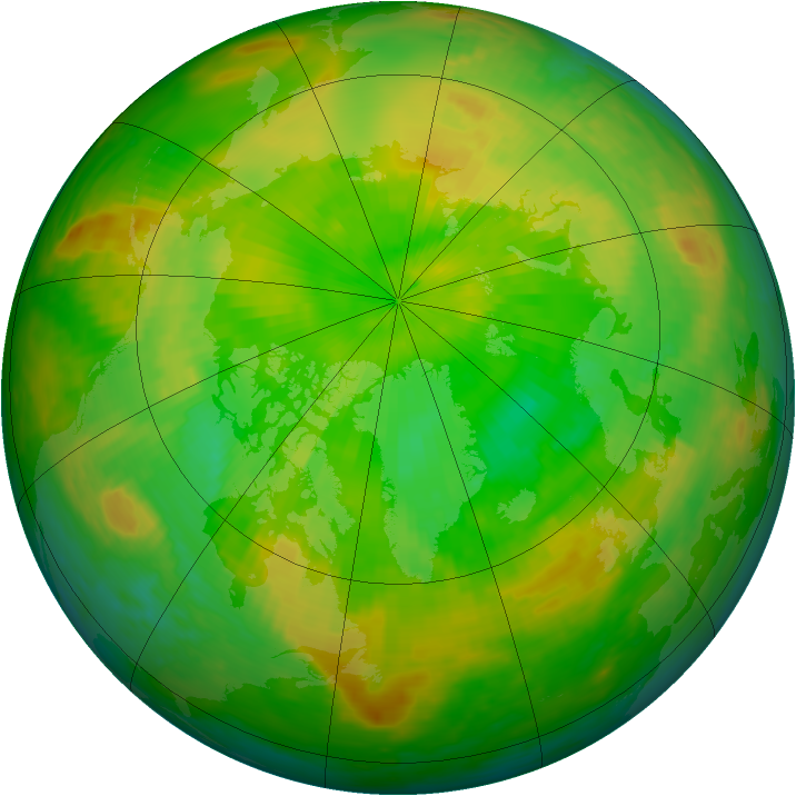 Arctic ozone map for 11 June 2002
