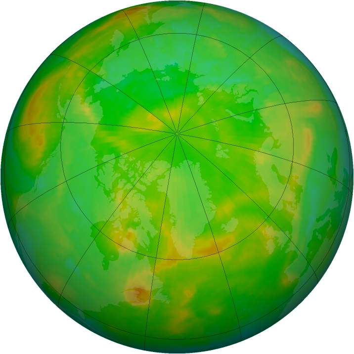 Arctic ozone map for 24 June 2002