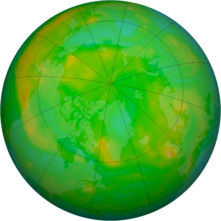Arctic ozone map for 01 July 2002